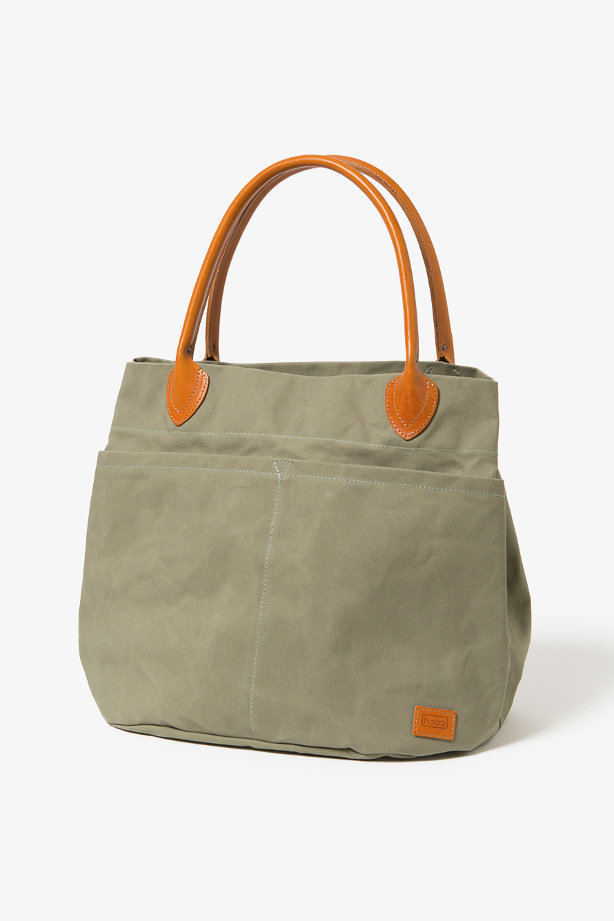 Hobo Paraffin Coated Cotton Canvas 9 Tote Bag Sage